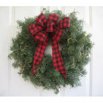 Wreath 12 inch with Bow Undecorated
