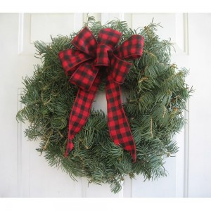 Wreath 8 inch with Bow Undecorated